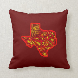 Texas Scribbleprint Throw Pillow