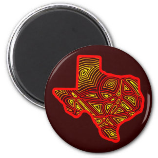 Texas Scribbleprints 2 Inch Round Magnet