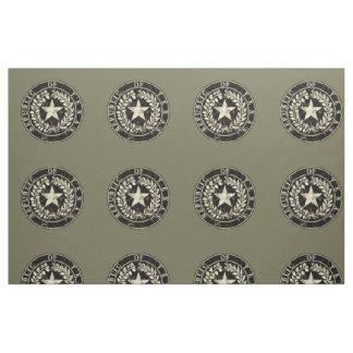 Texas Seal, Distressed Fabric