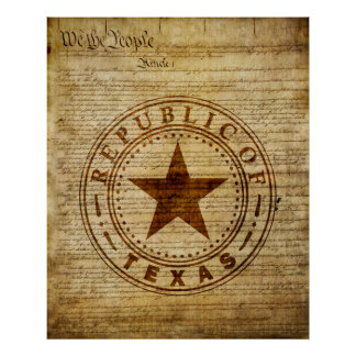 Texas Seal of 1836 Poster