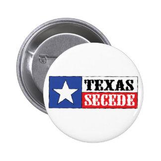 Texas Secede 2 Inch Round Button