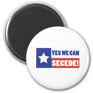 Texas Secede 2 Inch Round Magnet