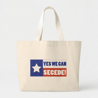 Texas Secede Large Tote Bag
