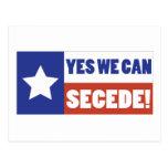 Texas Secede Postcard