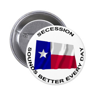Texas Secession Sounds Better Every Day Pinback Button