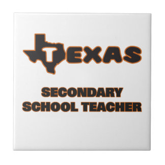 Texas Secondary School Teacher Small Square Tile