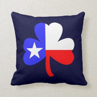 Texas Shamrock Throw Pillows