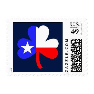 Texas Shamrock Stamp