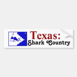 Texas: Shark Country Bumper Sticker