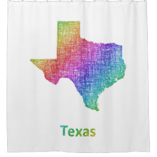 Map Texas Shower Curtains