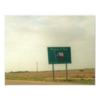 Texas Sign Card