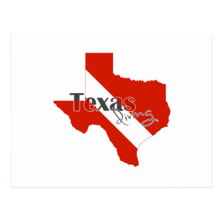 Texas Silhouette Diving Flag with Text Postcard