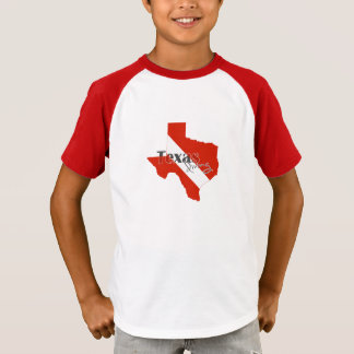 Texas Silhouette Diving Flag with Text T-Shirt