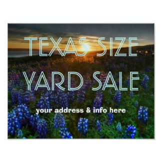 TEXAS SIZE YARD SALE POSTER