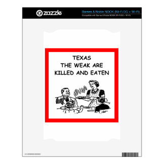 TEXAS DECAL FOR THE NOOK