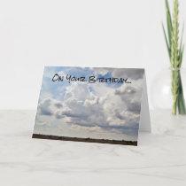 Texas Sky Birthday Card
