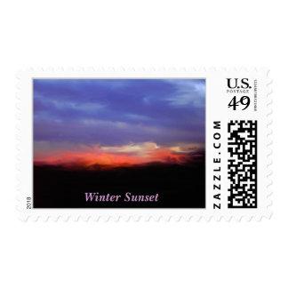 Texas Sky, Winter Sunset Stamp