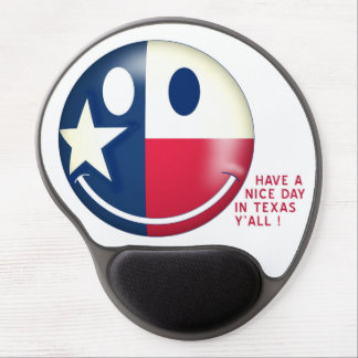 TEXAS SMILEY GEL MOUSE PAD