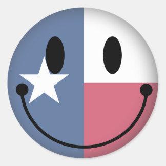 Texas Smiley Stickers