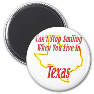 Texas - Smiling 2 Inch Round Magnet