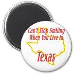 Texas - Smiling Refrigerator Magnet