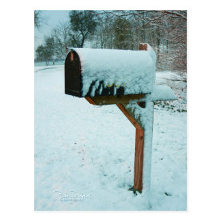 Texas snow mailbox postcard