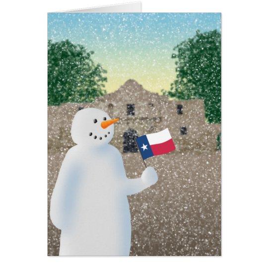 Texas Snowman Card