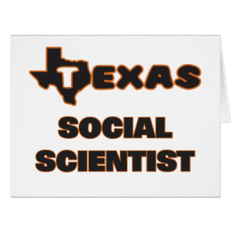 Texas Social Scientist Large Greeting Card