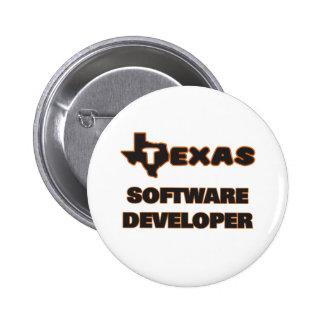 Texas Software Developer 2 Inch Round Button