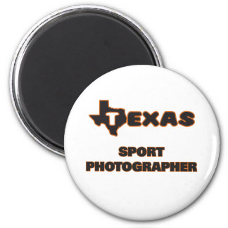 Texas Sport Photographer 2 Inch Round Magnet