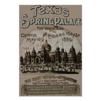 Texas Spring Palace Poster - Fort Worth, TX