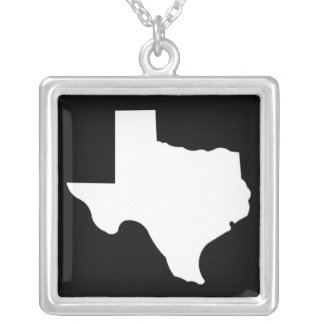 Texas Square Pendant Necklace