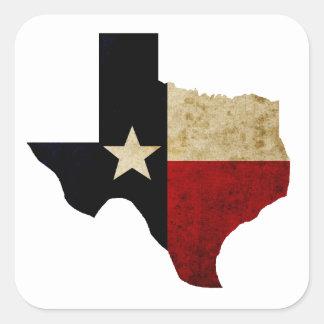 Texas Square Sticker