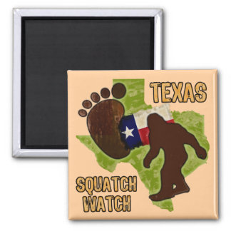 Texas Squatch Watch 2 Inch Square Magnet