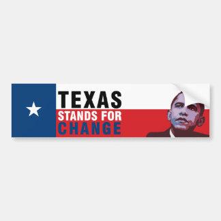 Texas Stands for Change - Obama Bumper Sticker Car Bumper Sticker