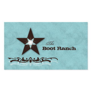 Texas Star Business Card Baby Blue Brown Jewelry
