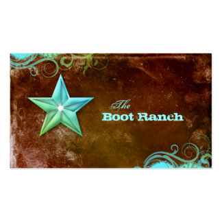 Texas Star Business Card Brown Blue Jewelry