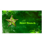 Texas Star Business Card Flourescent Green Gold