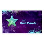 Texas Star Business Card Purple Blue Jewelry