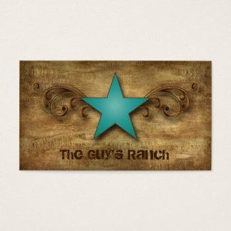 Texas Star Business Card Suede Blue Swirls