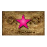 Texas Star Business Card Suede Pink Swirls