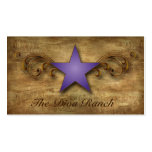 Texas Star Business Card Suede Purple Swirls