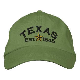 Texas Star Embroidered Baseball Cap
