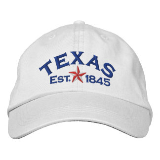 Texas Star Embroidered Baseball Cap
