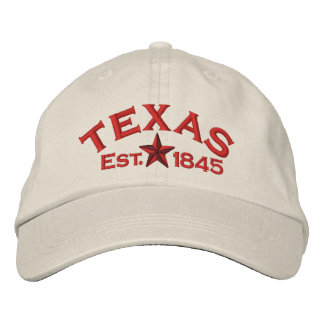 Texas Star Embroidered Baseball Hat