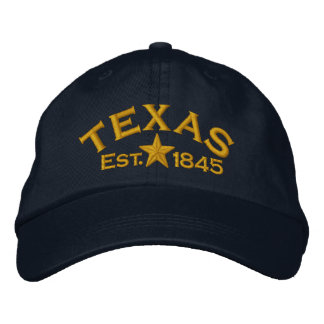 Texas Star Embroidered Hats