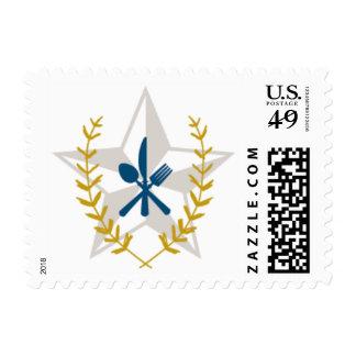 Texas Star Fork Knife Stamp
