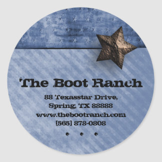 Texas Star Sticker Denim Blue Jeans