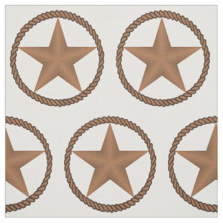 Texas Star With Rope Border   ANY COLOR Fabric