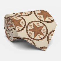 Texas Star With Rope Border   ANY COLOR Tie